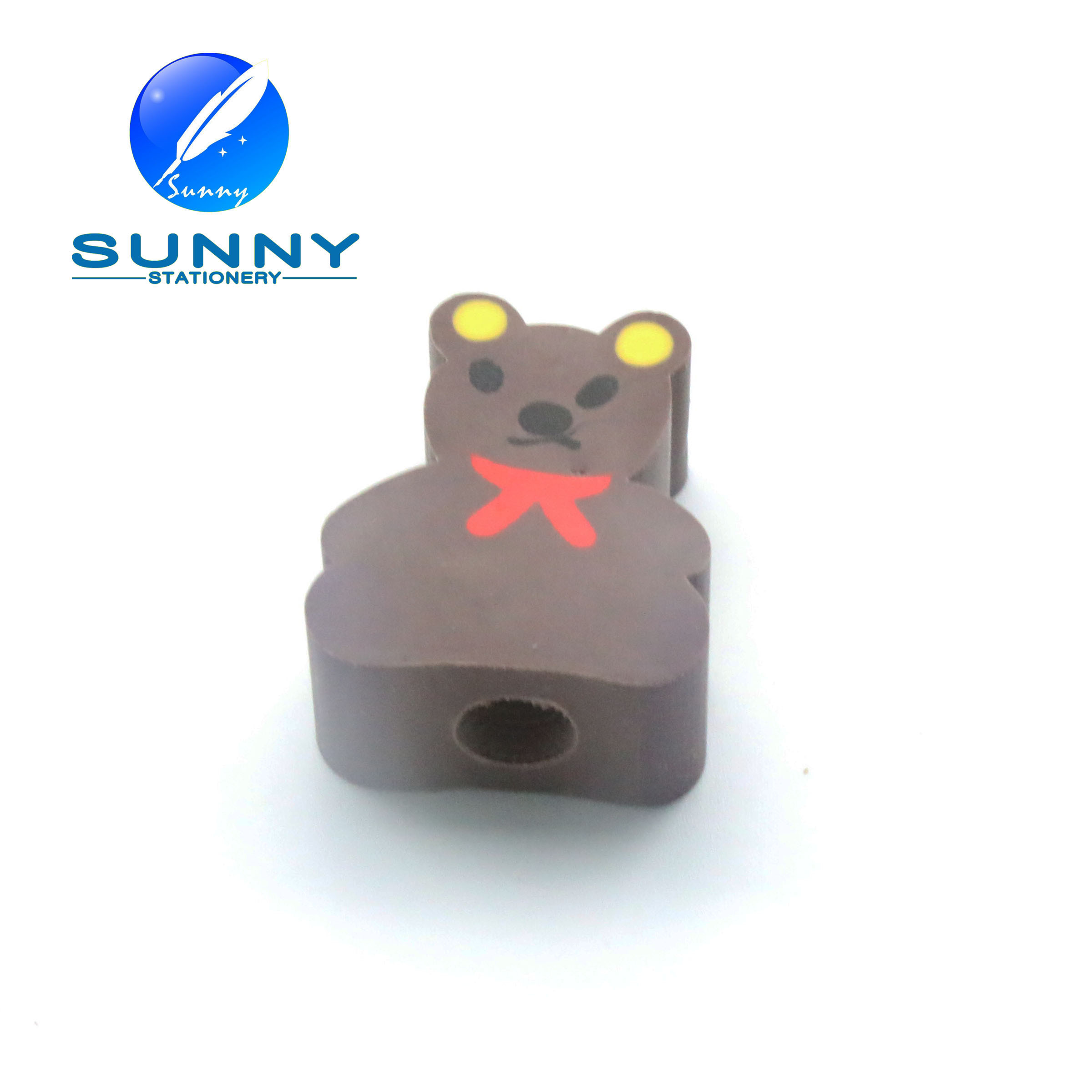 2015 Cheap Animal Shaped Eraser for Promotion with Pencil Hole
