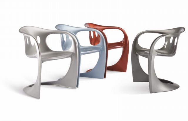 S Shaped Leisure Plastic Chair