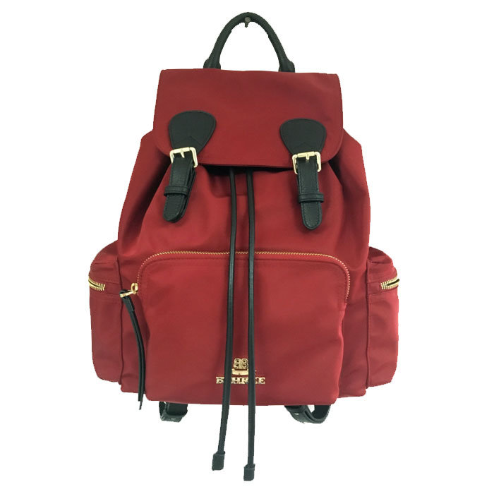 2016-New Fashion Women Nylon with Leather Backpack (M1606-6)