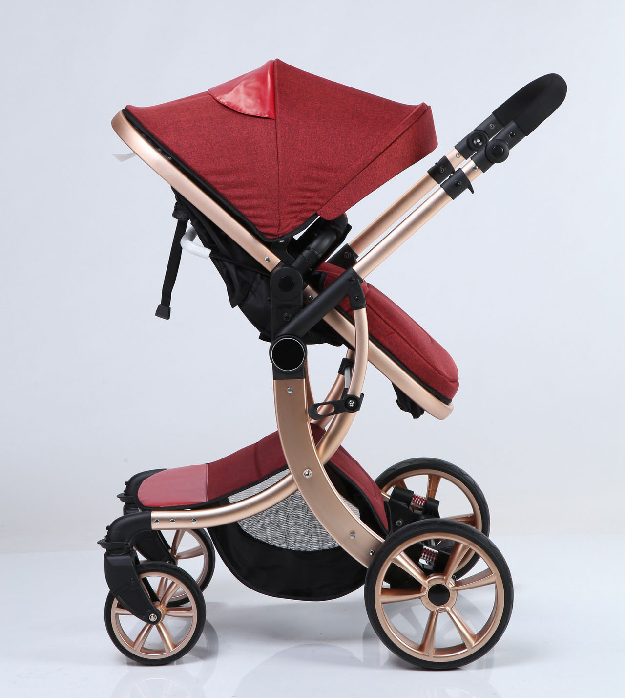 New Design Luxury Fold Baby Stroller with European Approved