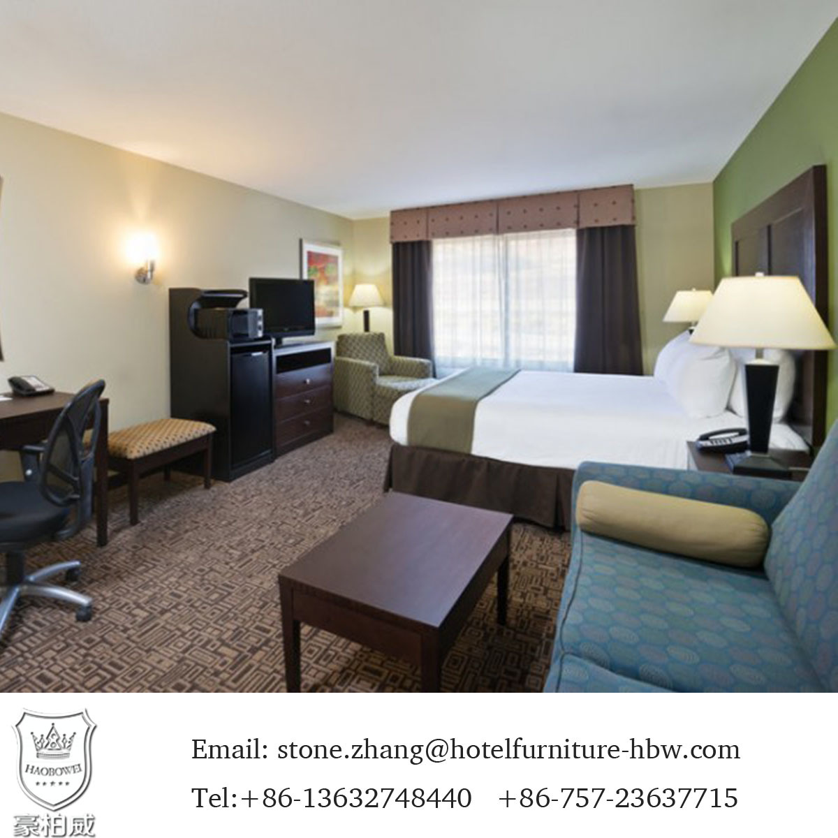 Classic Design Wooden Hotel Bedroom Furniture Sets for Sale