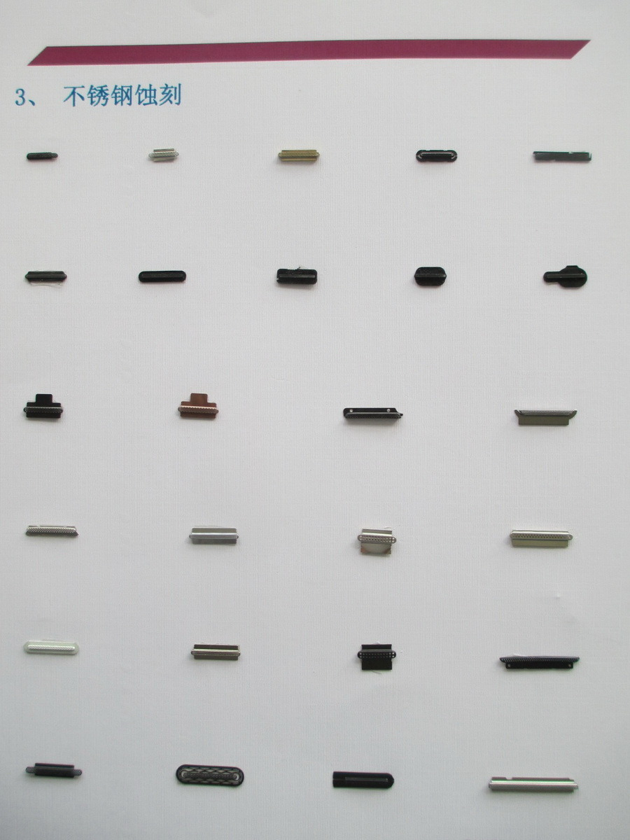 Etching and Stamping Parts