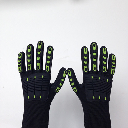 Sandy Nitrile Finished Poly/Lycra Safety Gloves, Anti-Flame TPR Sewing
