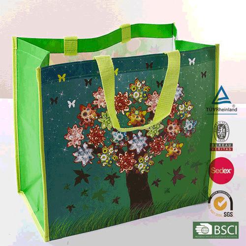 PP Shopper Baghand Woven Nylon Plastic Shopping Bags