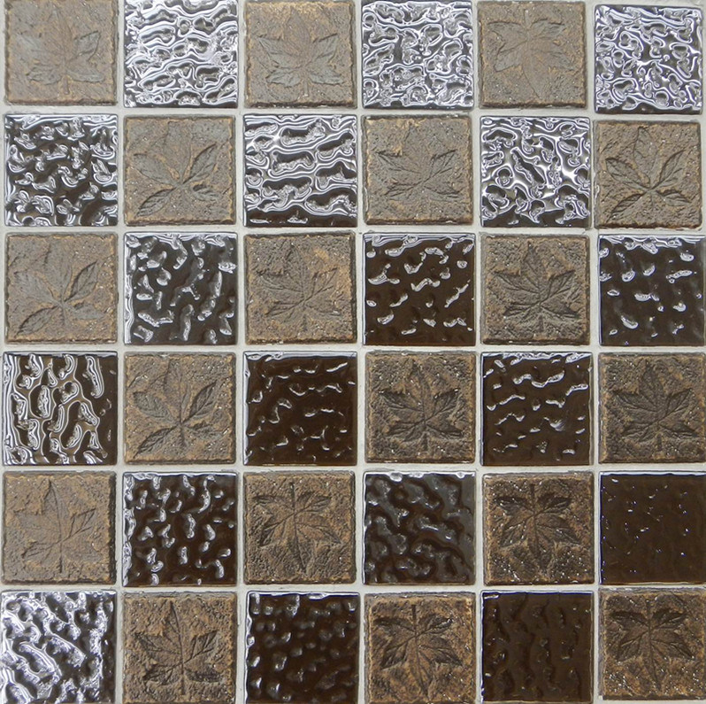 Mosaic de cristal tile para floor cer202 mosaic de - Azulejos de cristal ...