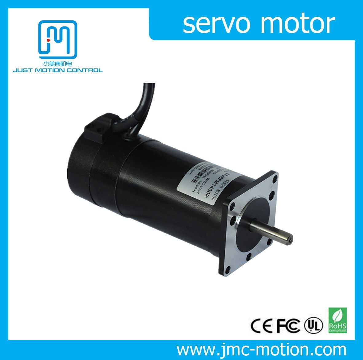 Jmc 140W High Speed Brushless AC Servo Motor 3000rpm with Encoder