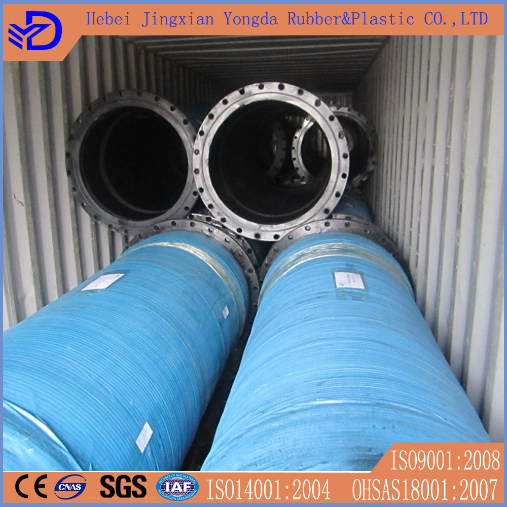 Large Diameter Flanged Suction Discharge Dredging Rubber Hose
