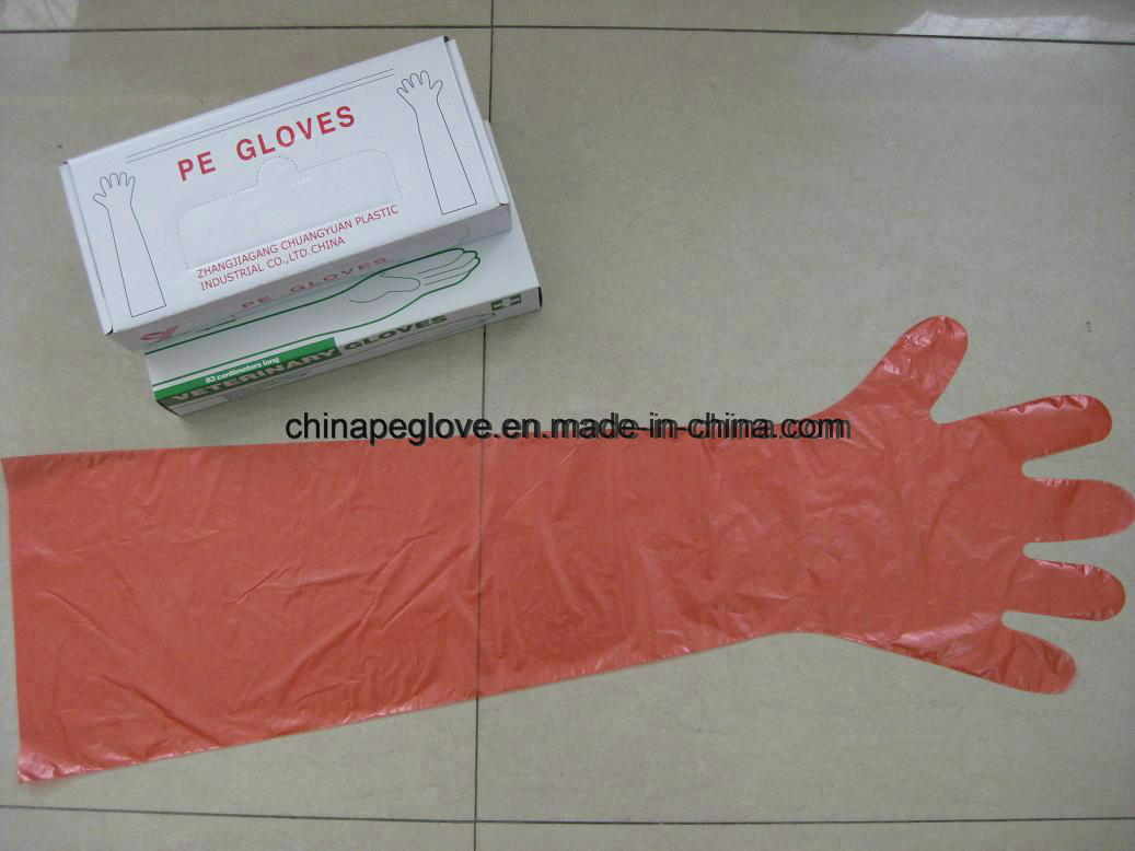 Disposable Veterinary PE Gloves with Long Sleeves