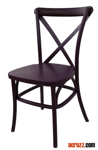 Outdoor Banquet Wedding Rental Resin X Crossback Chair