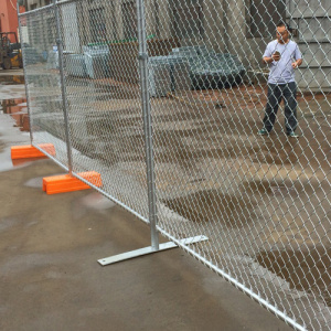 6ftx8FT Canada Temporary Chain Link Fence, Galvanized Chain Link Temporary Fence