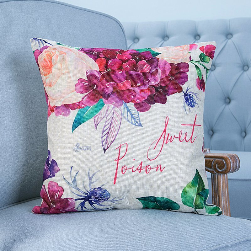 Digital Print Decorative Cushion/Pillow with Botanical&Floral Pattern (MX-08)