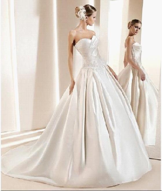 China Wedding Dress With Silk Satin 940
