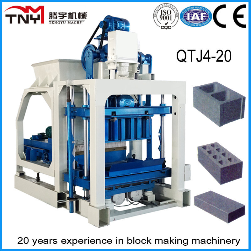 Low Price Cement Brick Block Making Machine Price, Cement Manual Block Making Machine (QTJ4-20)