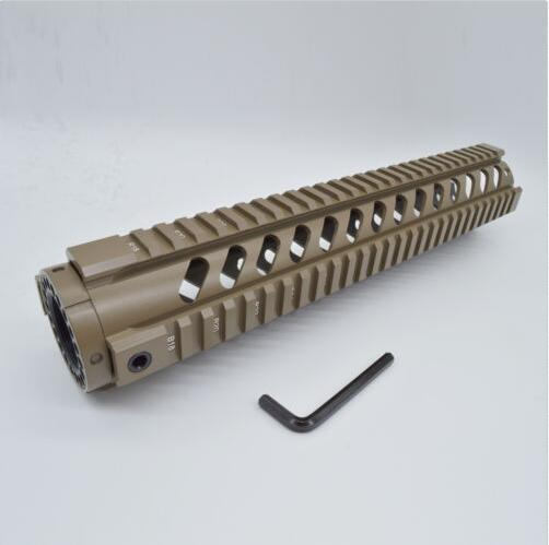 "12"" Length Free Float Quad Rail Mount System Key-Mod Handguard"