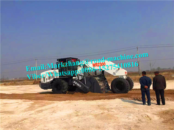 Wr2300 Multifunctional Cold Recycling Asphalt Road Paving Machinery 2300mm Mixing Width