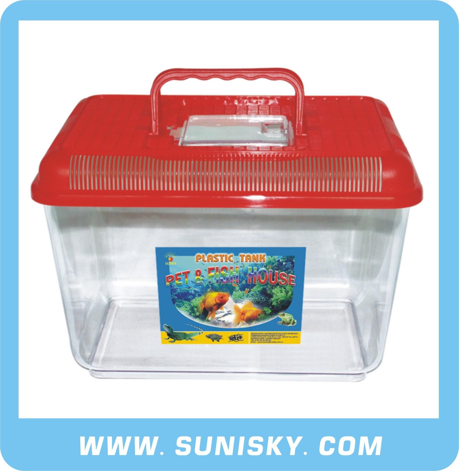 Plastic Aquarium Tank Red SPF-8803
