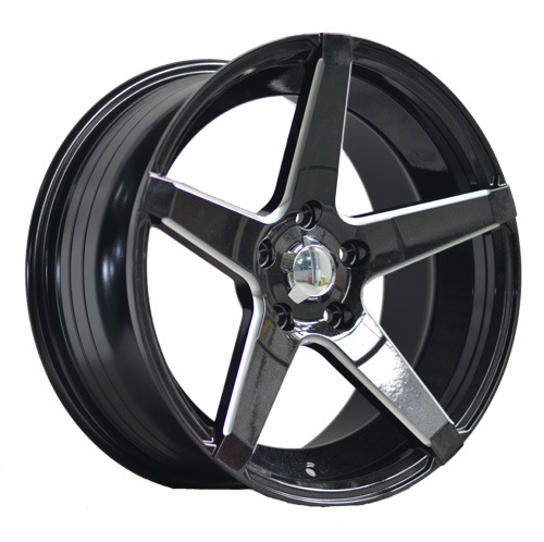 17 Inch Black Painted Inner Groove Alloy Car Wheel UFO-LG16