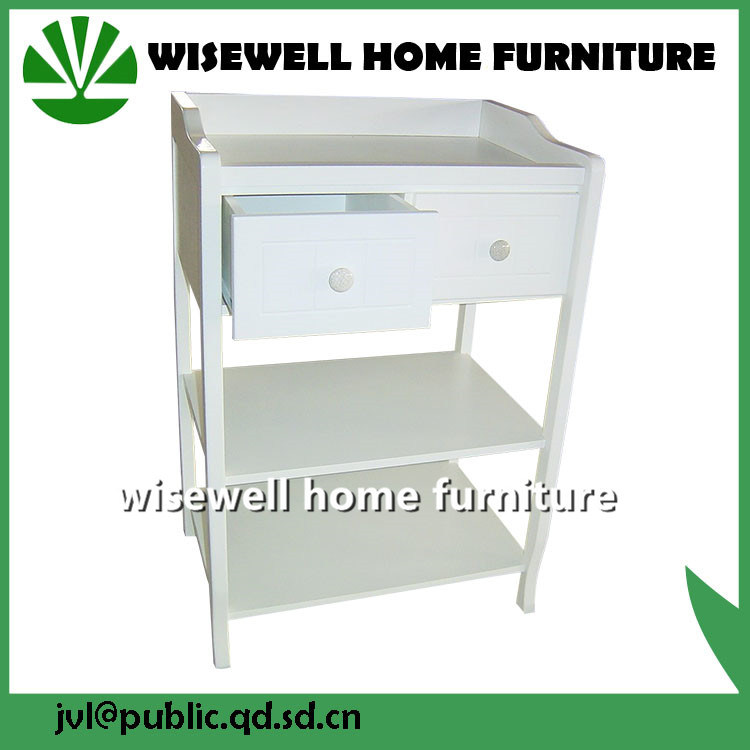 Baby Cot and Changing Table Wood Baby Room Furniture