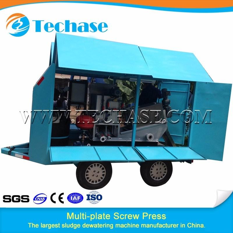 Automatic Screw Filter Press Sludge Dehydrator Machine