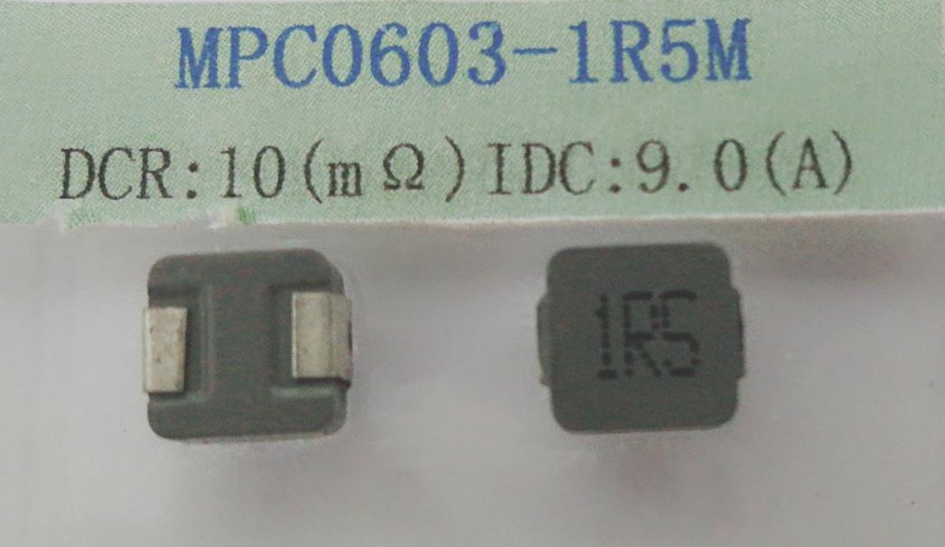 Power Inductor 1.5uh 20%, Temperature Rise Current~ 9.0AMP, Dcr: 10mohm Max.