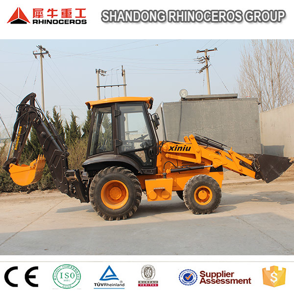 Small Mini Backhoe Loader, 7ton Hydraulic Backhoe Loader Wz30-25