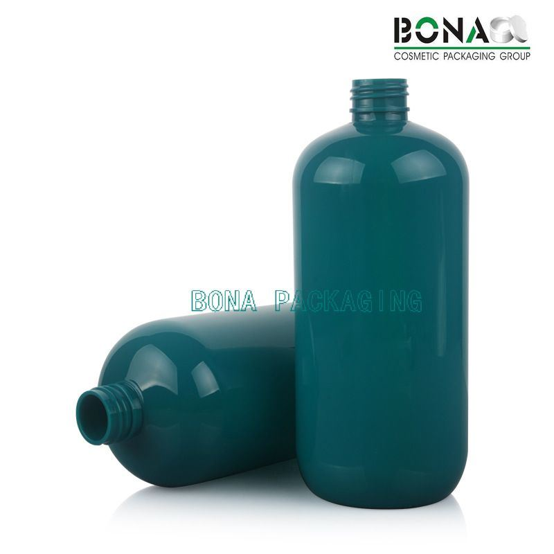 500ml Boston Round Pet Bottle with Black Lotion Pump