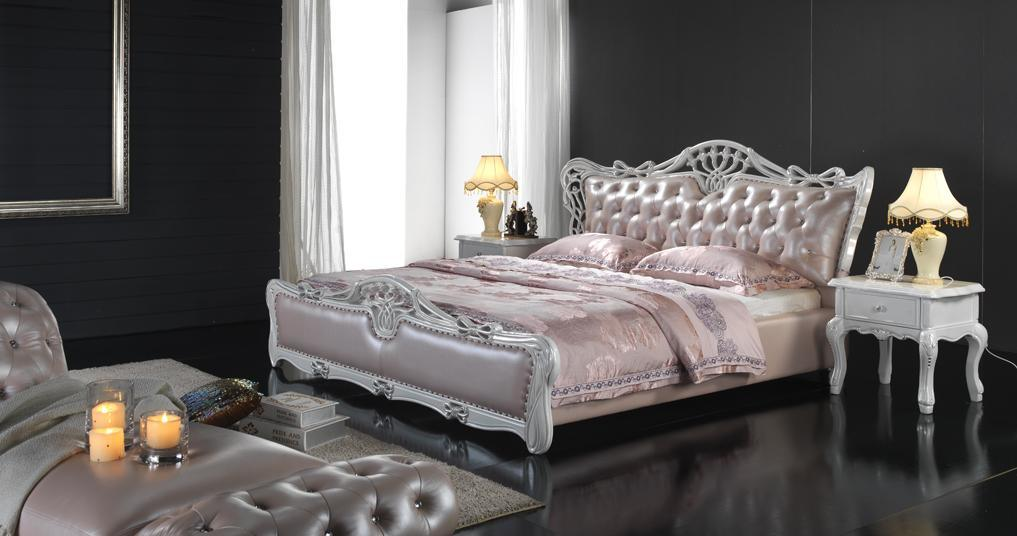 Princess Luxury Genuine Leather Soft Bed (6069)