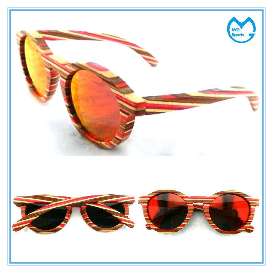 Polarized PC Lens Handmade UV Protection Laser Wooden Eyeglasses