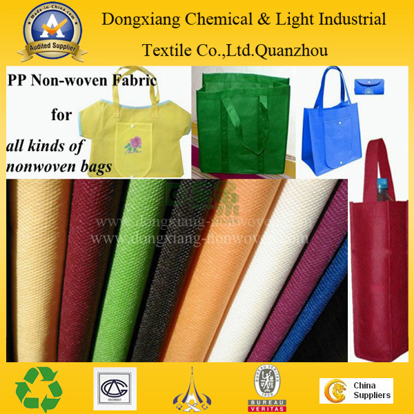 Bags Making Colorful Reusable PP Spunbond Nonwoven Fabric