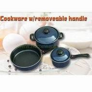 Removable handle cookware