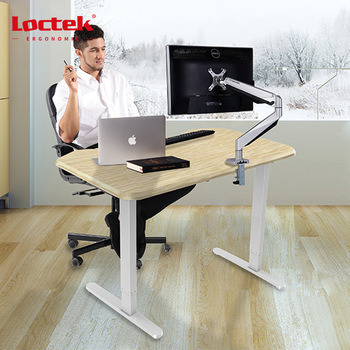 Electric Ergonomic Office Height Adjustable Two Motors Two Segments Lift Standing Desk