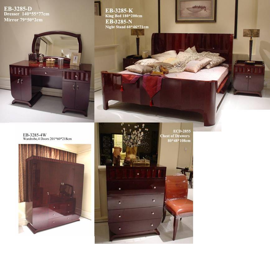 China New Classic Bedroom Furniture Eb3285 China Bedroom Furniture Wooden Bed