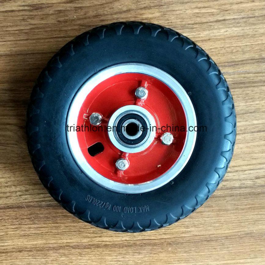 7X2 Flat Free Foam Tire with Aluminum Alloy Wheel