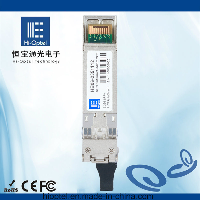 6.25Gb/s SFP+ 2km 1310nm/1550nm SM LC Bi-Di Optical Transceiver