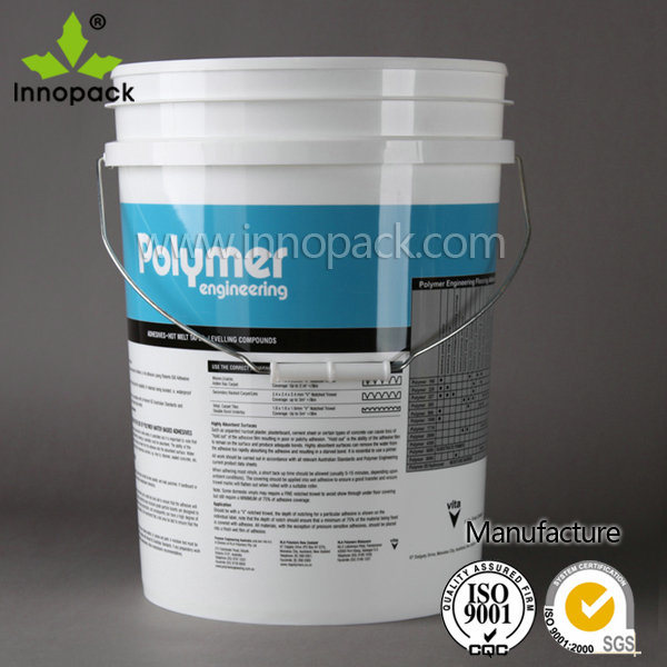 20L American Style Paint Plastic Pail with Lid and Handle