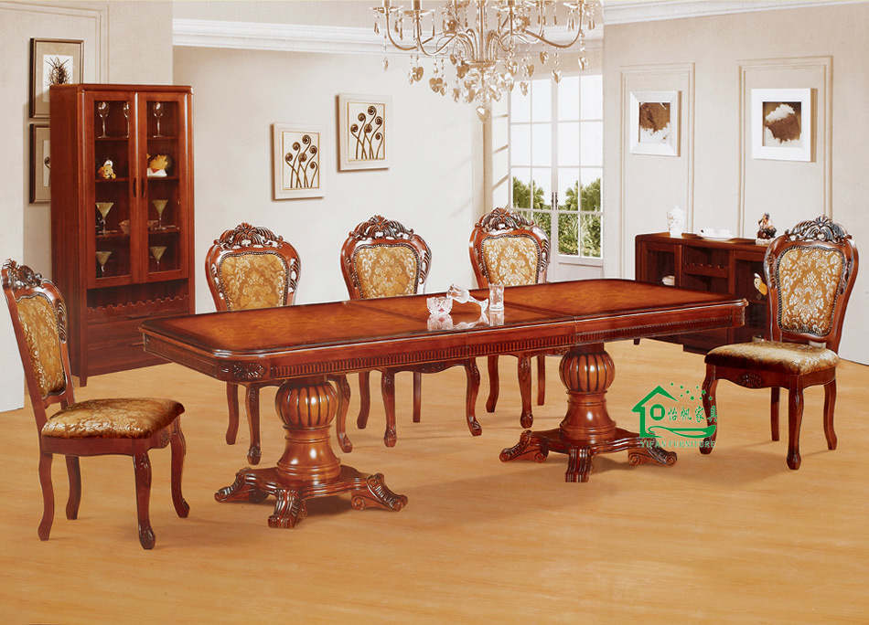 China Dining Table With 8 Pieces Wood Dining Chair YF AX806 Photos Pi
