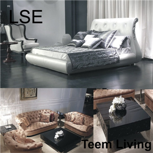 Lse Leather Bed Full Size Bed Hotel Bed Bedroom Furniture French Provincial Furniture
