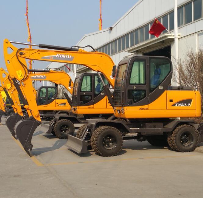 Ce Approved Hydraulic Wheel Excavator Xn80-9 of 6ton 8ton 10ton 12ton 15ton