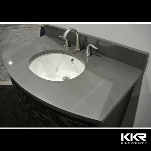 China Cultured Marble Solid Surface Bathroom Vanity Top