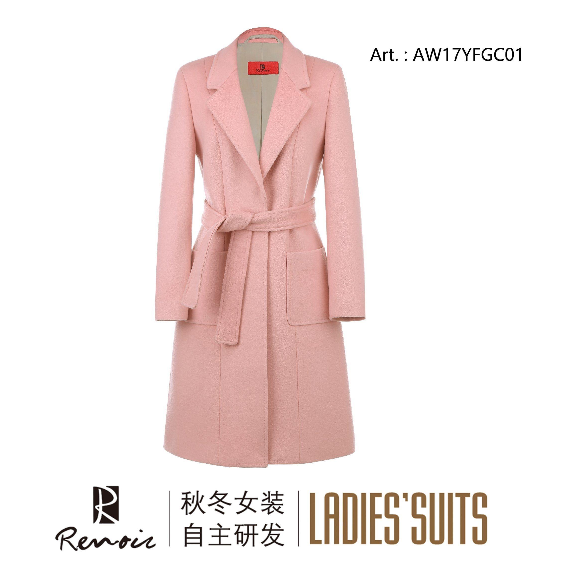 OEM Renoir Woolen Women′s Dust Coat
