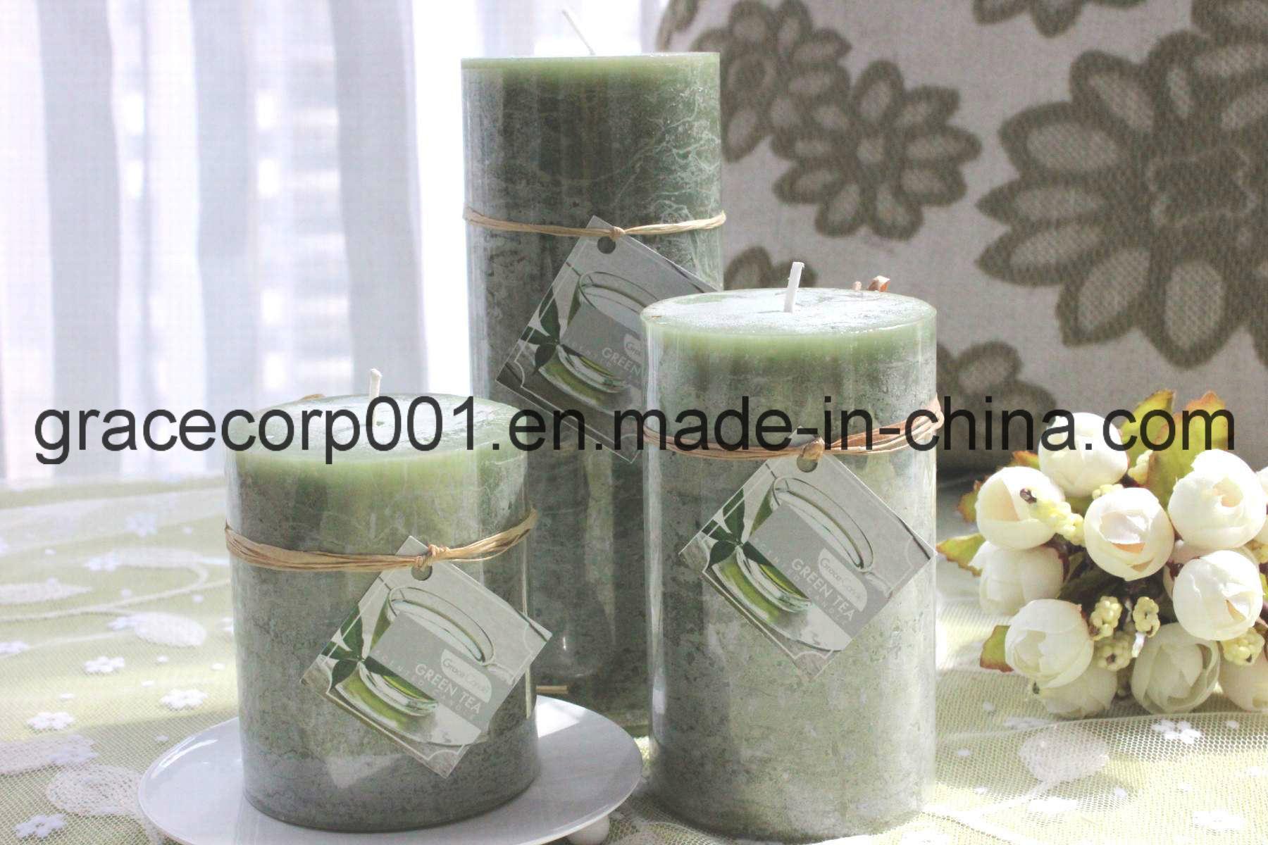 Rustic Pillar Candle 6*6*15cm