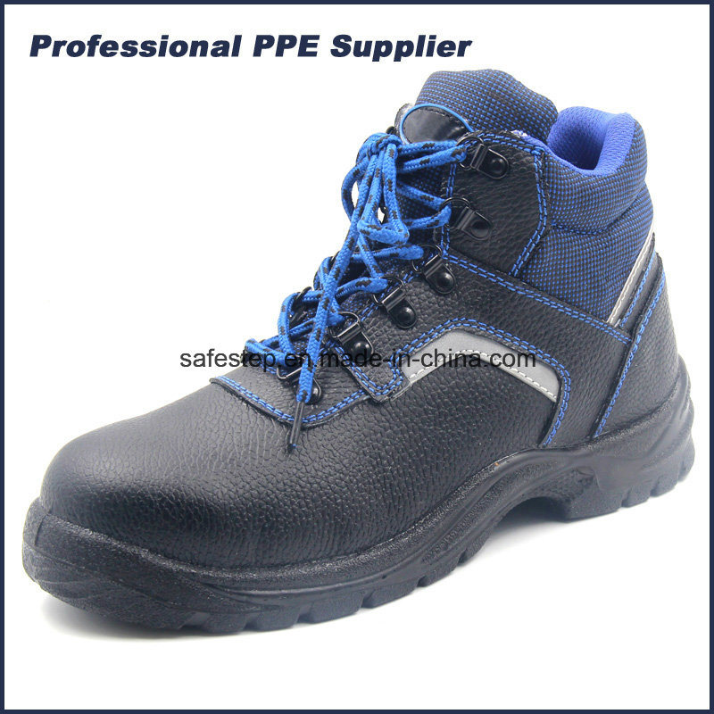 S1p Split Leather PU Injuection Safety Shoe