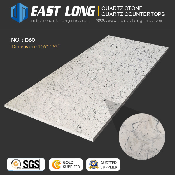 Artificial Marble Quartz Stone Slabs for Kitchen/Bathroom/Hotel Design