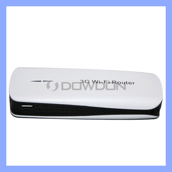 Portable Mini 3G WiFi Router with Power Bank, 3G WiFi Router (Router-215)