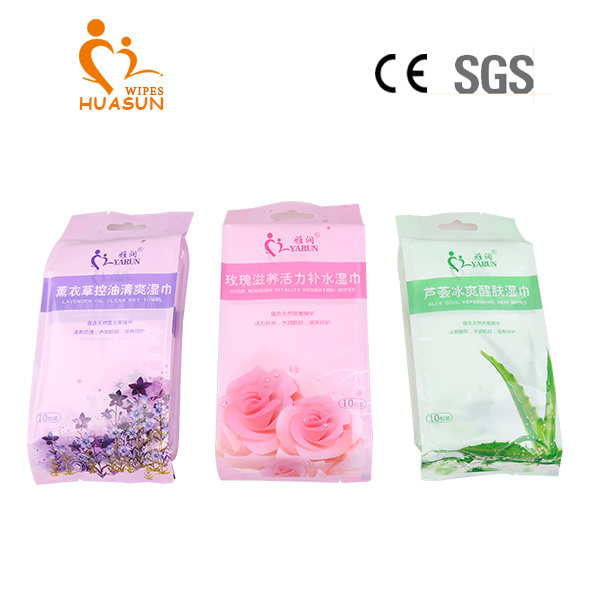 10 PCS Bags Individual Package Wet Tissue