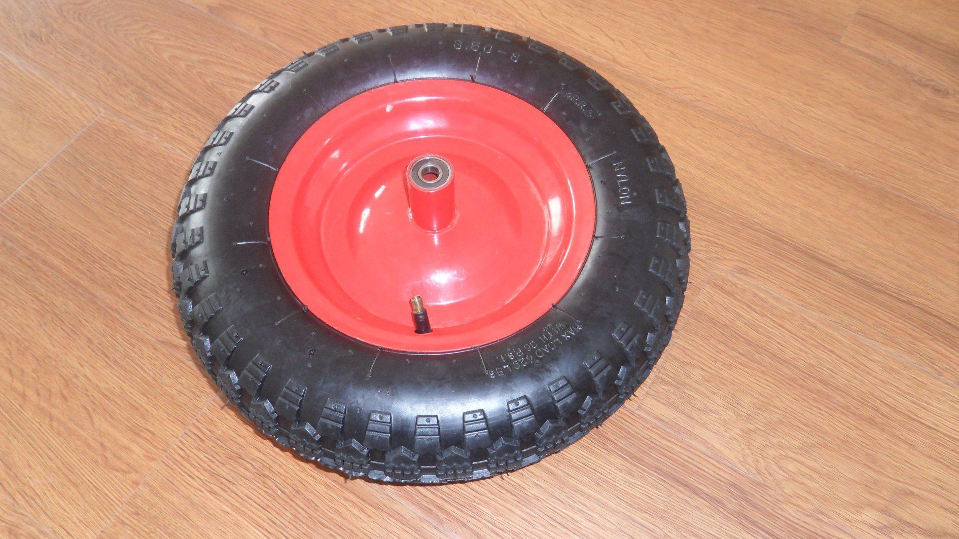 Wheelbarrow Pneumatic Rubber Wheel 3.50-8 Popular in Italia