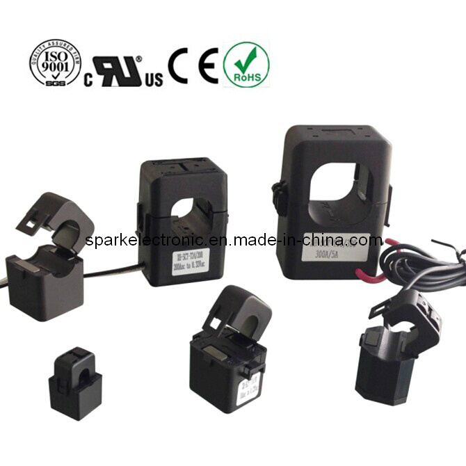 Split Core Clip on Current Transformer Sensor 80A/26.6mA for Energy Monitoring