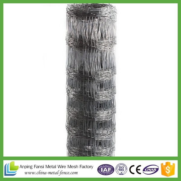 Livestock Farm Galvanized Woven Wire Mesh Fence for Animals