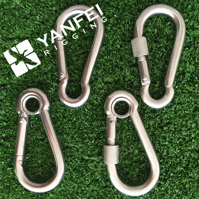 10X100mm DIN5299A Stainless Steel Snap Hook with Eyelet