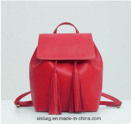 New Designer PU Tassel Student Backpack Leisure School Bag